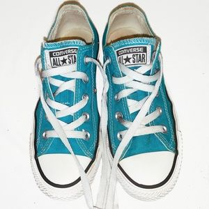 Turquoise Converse Allstar Shoes